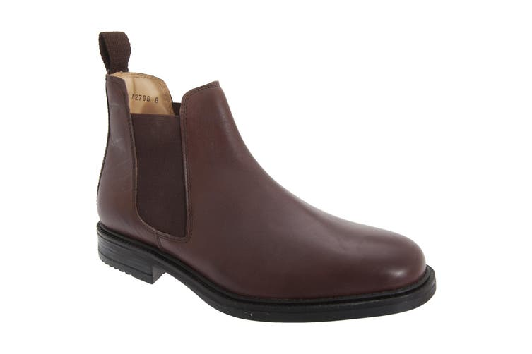 Roamers Mens Leather Quarter Lining Gusset Dealer Boots (Brown) (6 UK)