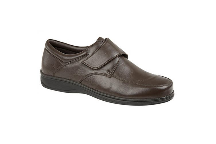 Roamers Mens Super Soft Leather Casual Shoes (Brown) (8 UK)