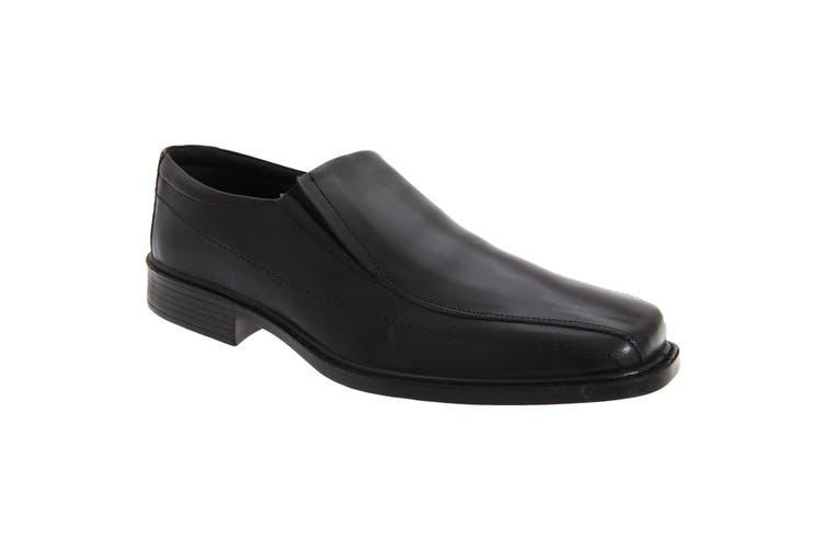 Roamers Mens Superlite Twin Gusset Leather Shoes (Black) (8 UK)