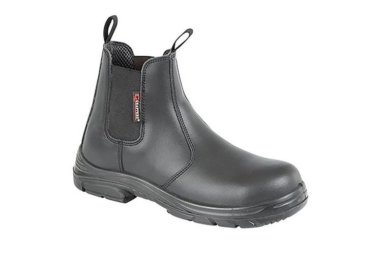 Grafter Mens Wide Fitting Safety Dealer Boots (Black) (45 EU)