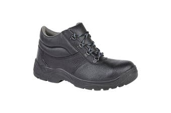 Grafters Mens Padded Collar D-Ring Chukka Safety Boots (Black) (12 UK)