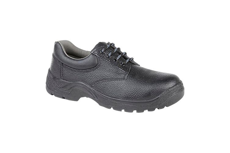 Grafters Mens Padded Collar 4 Eye Safety Shoes (Black) (6 UK)