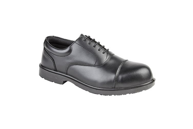 Grafters Mens Uniform Fully Composite Non-Metal Safety Oxford Shoes (Black) (7 UK)