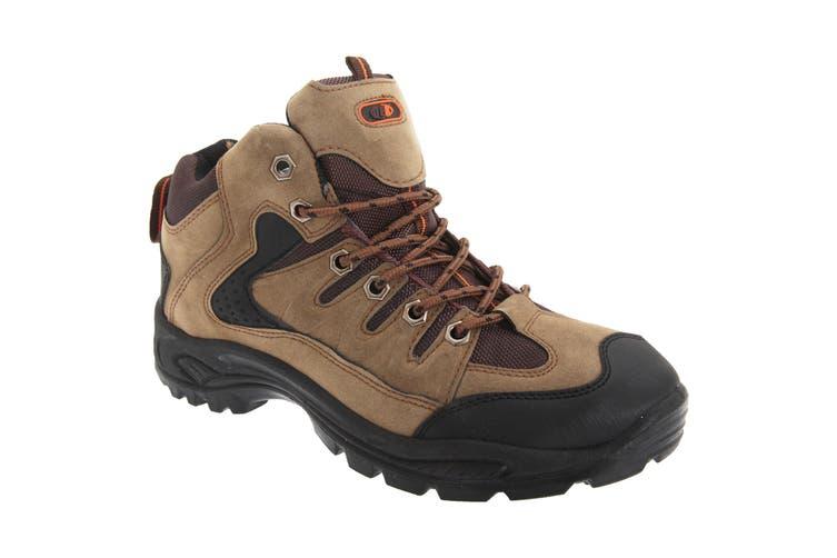 Dek Mens Ontario Lace-Up Hiking Trail Boots (Khaki) (12 UK)