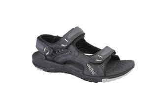 PDQ Mens Touch Fastening Superlight Sports Sandals (Black) (7 UK)