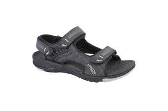 PDQ Mens Touch Fastening Superlight Sports Sandals (Black) (10 UK)