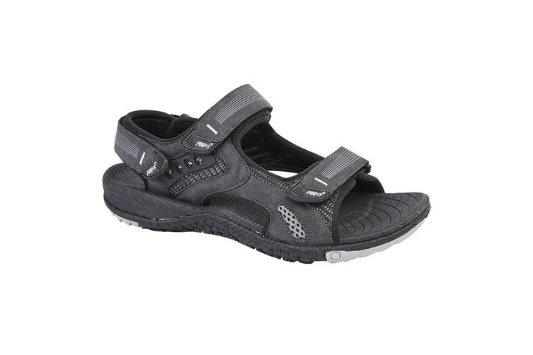 PDQ Mens Touch Fastening Superlight Sports Sandals (Black) (12 UK)