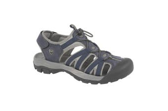 PDQ Mens Toggle & Touch Fastening Superlight Sports Sandals (Navy) (8 UK)