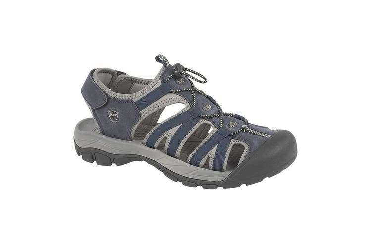 PDQ Mens Toggle & Touch Fastening Superlight Sports Sandals (Navy) (9 UK)