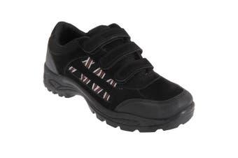 Dek Mens Ascend Triple Touch Fastening Trek Hiking Trail Shoes (Black) (6 UK)