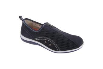 Boulevard Womens/Ladies Zip Elastic Gusset Leisure Shoes (Navy) (7 UK)