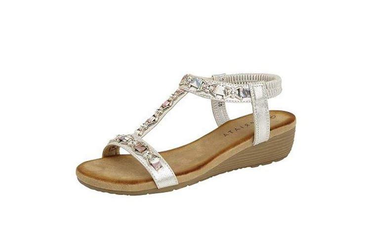 Cipriata Womens/Ladies Lia Sandals (Pewter) (5 UK)