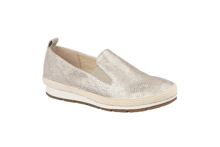 Cipriata Womens/Ladies Luca Shoes (Light Silver Metallic Faux Reptile) (5 UK)