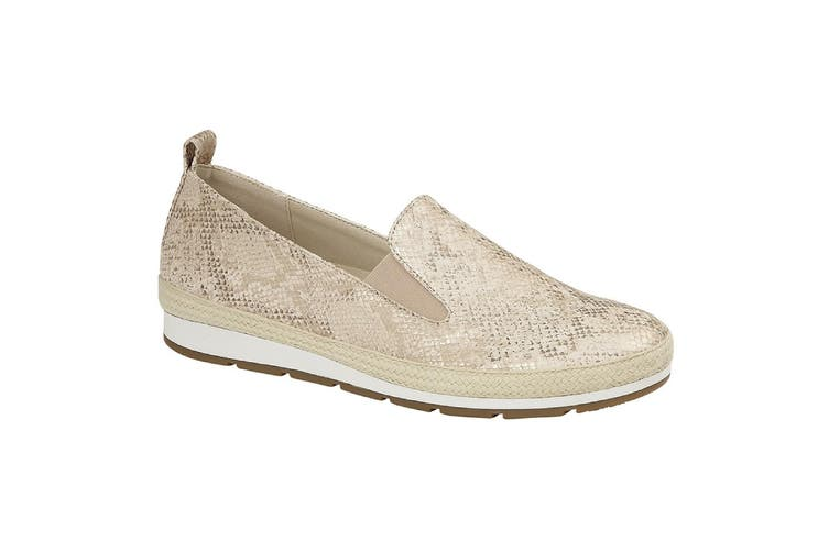 Cipriata Womens/Ladies Luca Shoes (Gold Metallic Faux Reptile) (5 UK)
