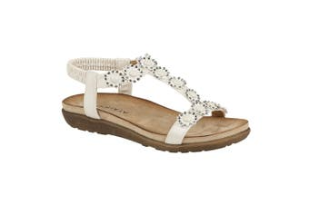 Cipriata Womens/Ladies Giovanna Sandals (White) (8 UK)