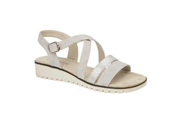Cipriata Womens/Ladies Flavia Sandals (Light Silver) (8 UK)