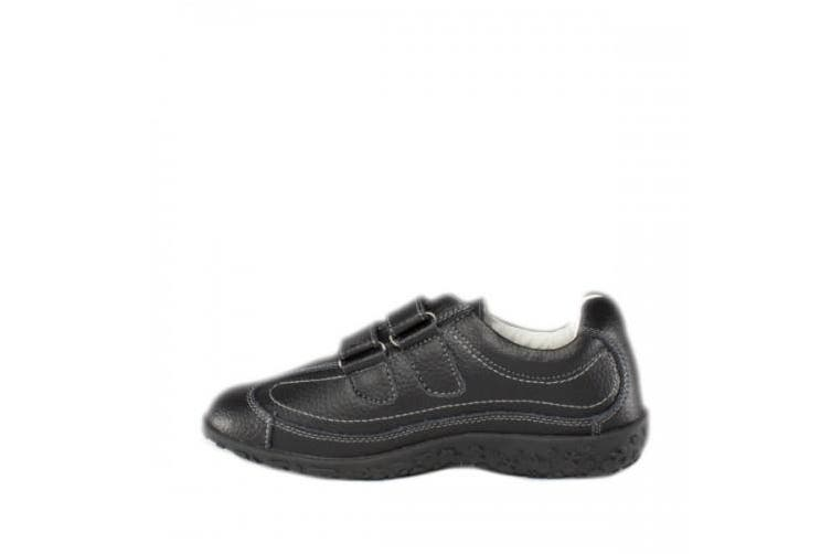 Boulevard Womens/Ladies Extra Wide Fitting Touch Fastening Shoes (Black) (6 UK)