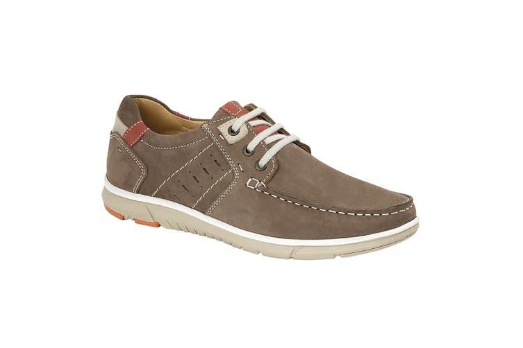 Roamers Mens Leather 3 Eyelet Leisure Tie Shoes (Brown) (8 UK)