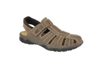 IMAC Mens Touch Fastening Sport Sandals (Brown) (9.5 UK)