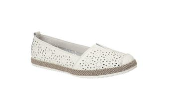 Boulevard Womens/Ladies Action Leather Casual Shoe (White) (6 UK)