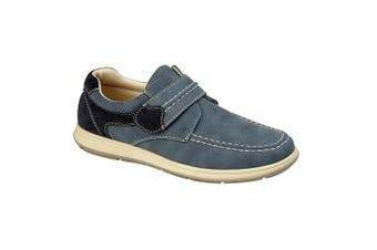 Scimitar Mens Touch Fastening Casual Shoe (Navy) (11 UK)