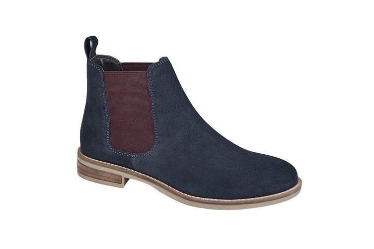 Cipriata Stellira Womens/ Ladies Twin Gusset Leather Lined Ankle Boot (Navy/Berry) (6 UK)