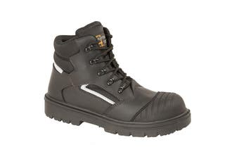 Grafters Mens Safety Hiker Type Boot (Black Multi) (37)