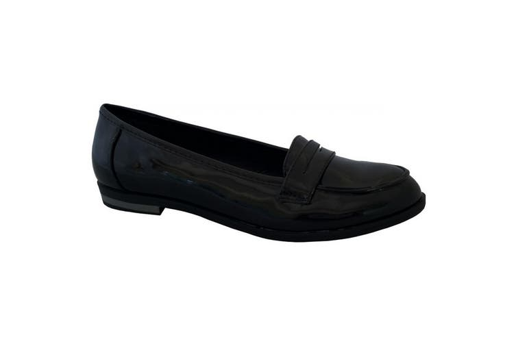 US Brass Womens/Ladies Apron Saddle Casual Shoes (Black Patent) (8 UK)