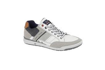 Route 21 Mens 7 Eyelet shoes (White/Grey/Blue) (6 UK)