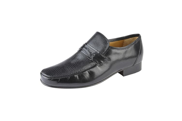 Kensington Classics Mens Kid Leather Loafers (Black) (8 UK)