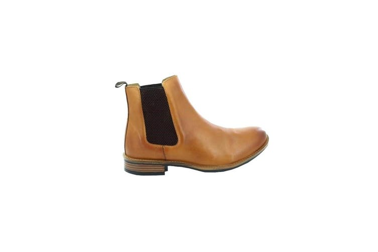 Roamers Mens Leather Gusset Boots (Tan) (8 UK)