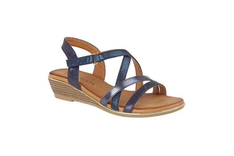 Cipriata Womens/Ladies Alessia Crossover Strap Sandals (Blue) (4 UK)