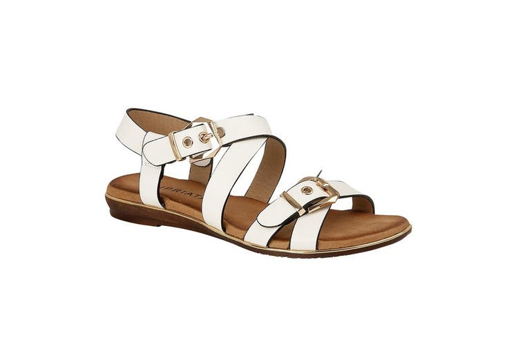 Cipriata Womens/Ladies Dean Twin Buckle Crossover Sandal (White) (4 UK)