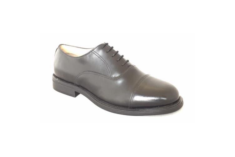 Grafters Mens Capped Oxford Cadet Shoe (Black) (8 UK)
