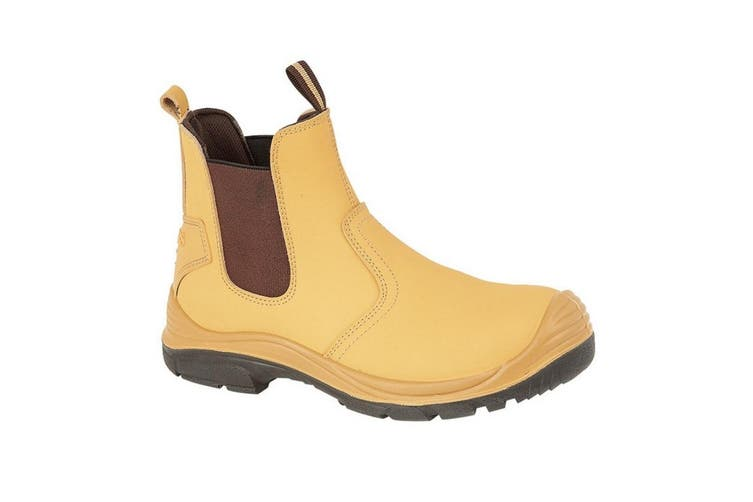 Grafters Steel Toe Safety Dealer Boots (Honey) (7 UK)