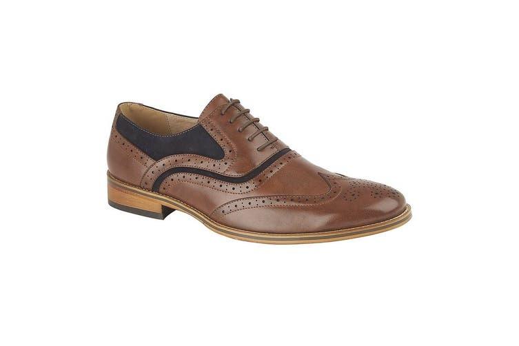 Goor Mens Brogue Oxford Shoes (Brown) (9 UK)