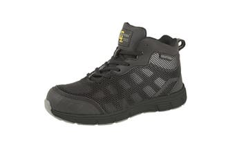 Grafters Mens Safety Trainer Boots (Black/Grey) (9 UK)