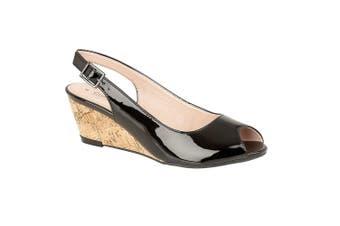 Cipriata Womens/Ladies Leana Buckle Wedge Heel Sandals (Black) (4 UK)