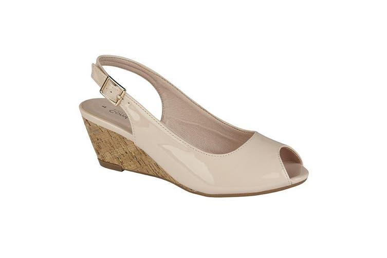 Cipriata Womens/Ladies Leana Buckle Wedge Heel Sandals (Nude) (7 UK)