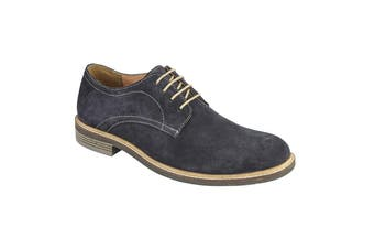 Roamers Mens Derby Suede Leather Laced Shoe (Dark Navy) (8 UK)