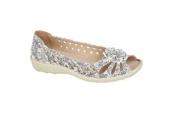 Boulevard Womens/Ladies Leather Open Toe Shoe (Multicoloured) (5 UK)