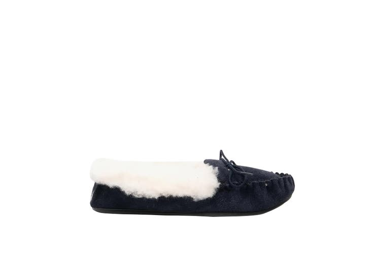 Mokkers Womens/Ladies Kirsty Moccasin Real Suede Slippers (Navy) (4 UK)