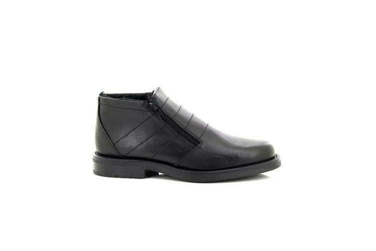 Roamers Mens Twin Zip Thermal Lined Boots (Black) (9 UK)