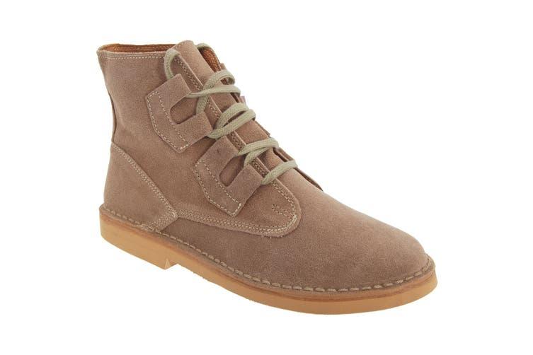 Roamers Mens Ghillie Tie Real Suede Desert Boots (Dark Taupe) (7 UK)