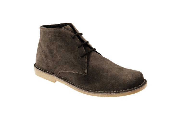 Roamers Mens Real Suede Fulfit Desert Boots (Dark Brown) (6 UK)