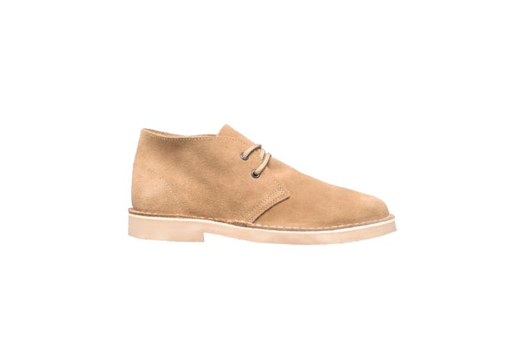 Roamers Mens Real Suede Round Toe Unlined Desert Boots (Camel) (10 UK)