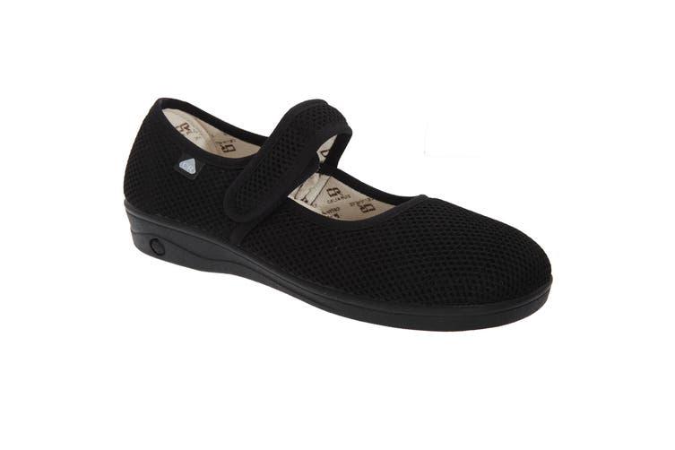Celia Ruiz Womens/Ladies Touch Fastening X Wide Dual Fitting Bar Sandals (Black) (37 EUR)