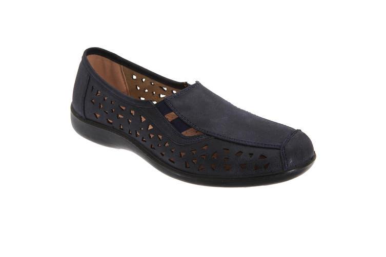 Boulevard Womens/Ladies Side Gusset Summer Casual Shoes (Navy Blue) (7 UK)