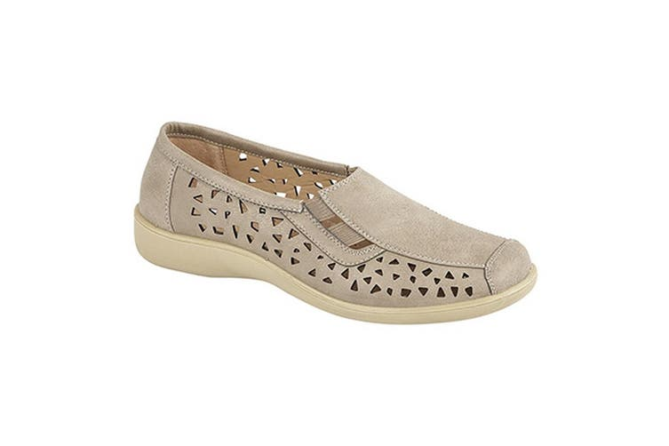 Boulevard Womens/Ladies Side Gusset Summer Casual Shoes (Stone) (8 UK)