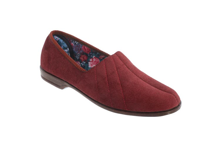 Sleepers Womens/Ladies Audrey III Roll Top Velour Slippers (Regal) (3 UK)